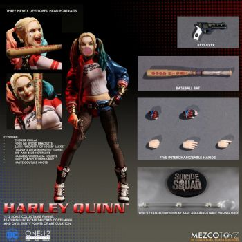Mezco Toys One:12 Collective Suicide Squad Harley Quinn Action Figure Free P&P